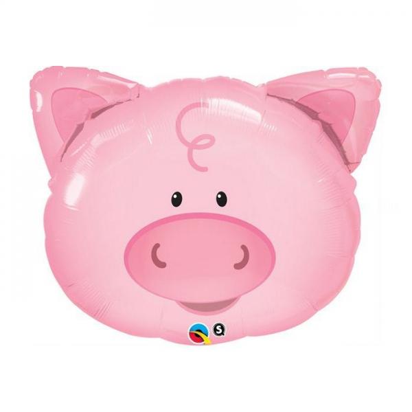 tête de cochon 40cm avec tige vendu non gonflé