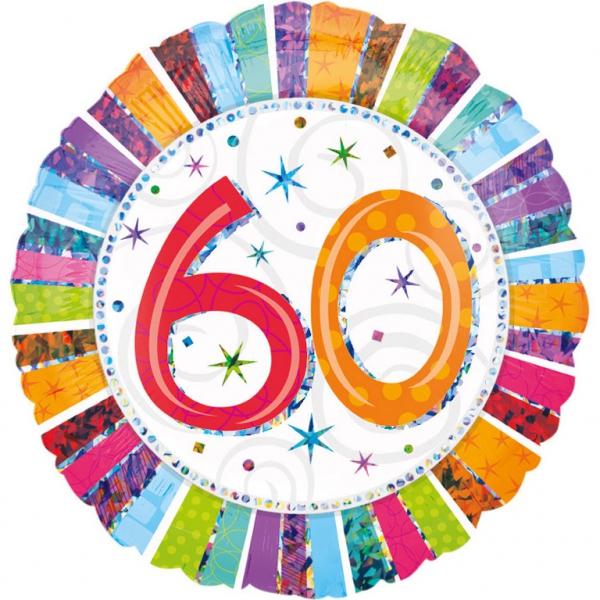 60 anniversaire radiant anniversaire ballon mylar