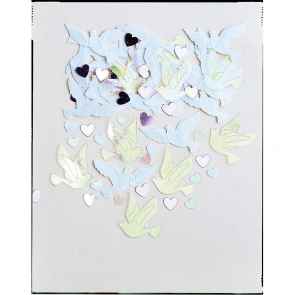 confettis metal colombes irise 14p1