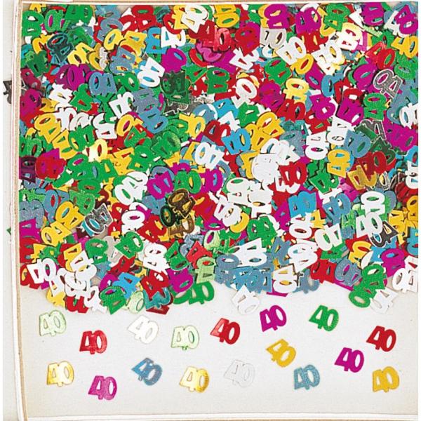 confetti mulicouleur métalique 40 en sachet de 14 grammes