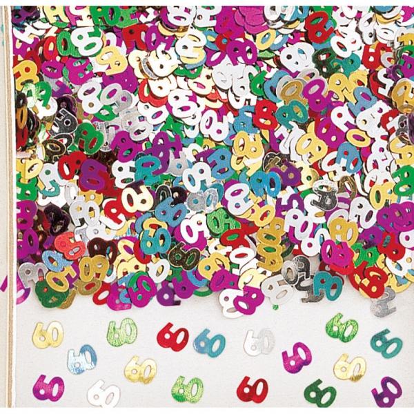 confetti mulicouleur métalique 60 en sachet de 14 grammes