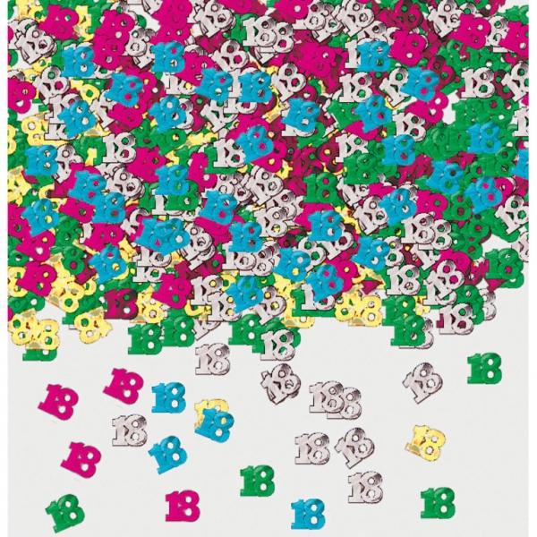 confetti mulicouleur métallique 18