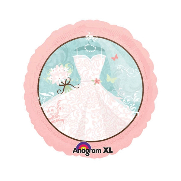 robe de marié ballon rond mylar 45cm