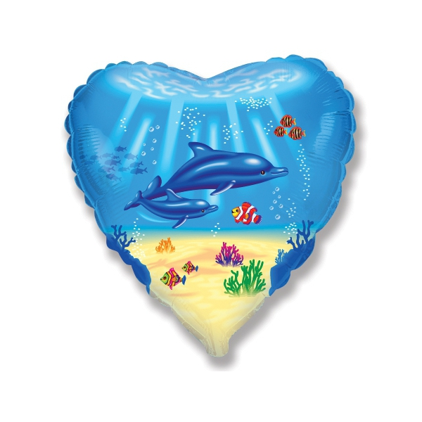 coeur dauphins diamètre 45 cm