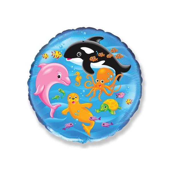 dauphins baleine diamètre 45 cm