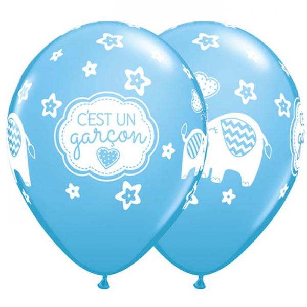 50 Ballons C'est Une Fille Elephants Pink 28 cm