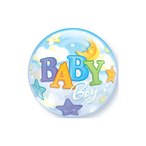 bubble baby boy lune et étoile 56 cm de diamètre