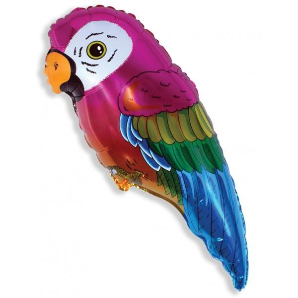 perroquet tropical ballon mylar 35 cm