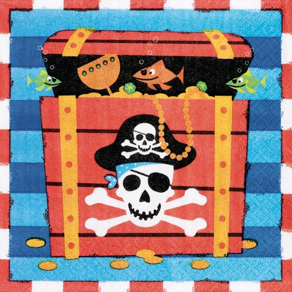 16 serviettes pirate 33*33