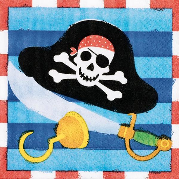 16 serviettes pirate 25*25 cm