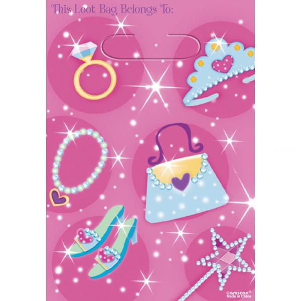 8 sachets pour confiserie ou petits jouets princesses