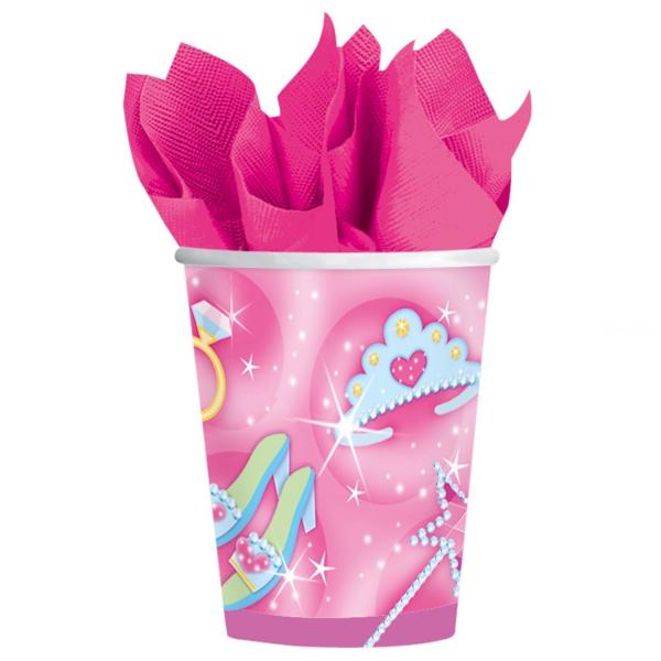 8 gobelets princesses 266 ml carton