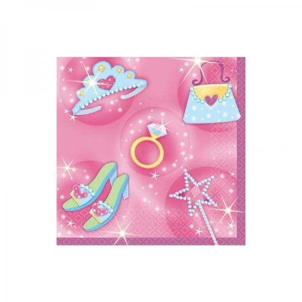 16 serviettes princesses 25*25