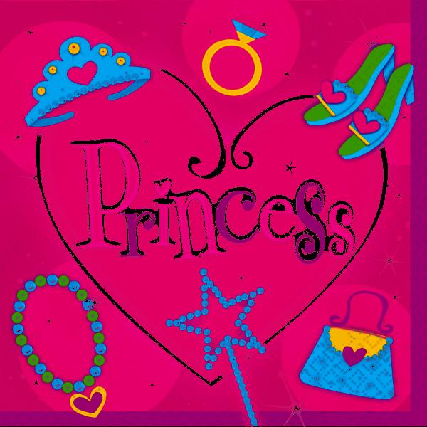 16 Serviettes princesses 33*33cm