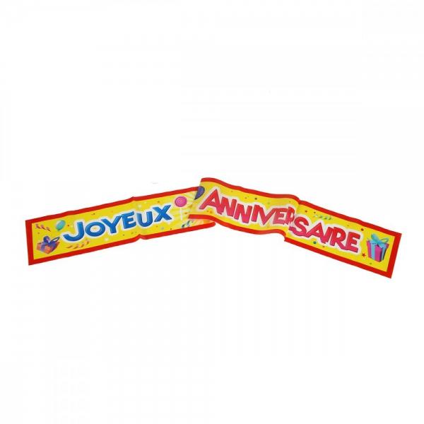 1 Banderole Joyeux Anniversaire 90 cm*10 cm