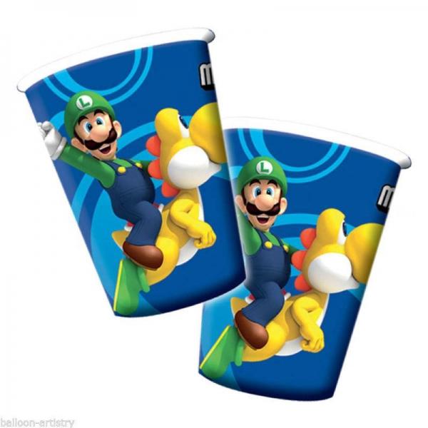 8 gobelets Mario Bros189216 Mario Super Mario