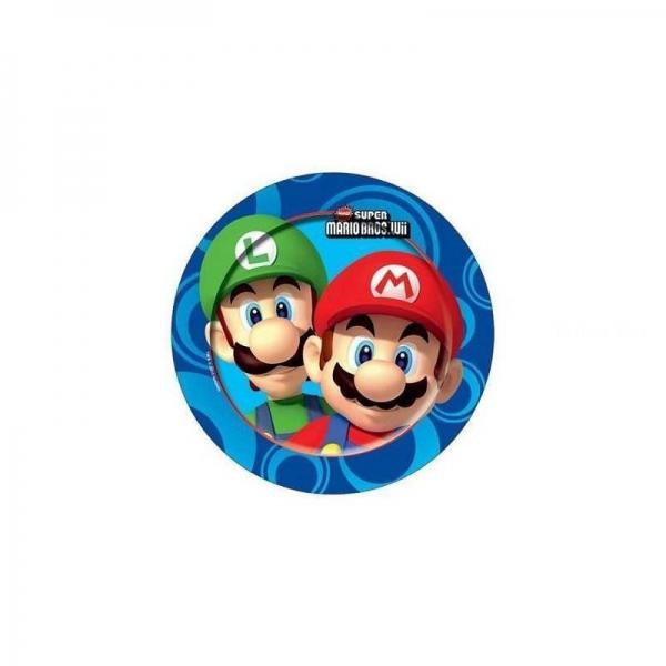 8 assiettes Mario Bros 23cm189209 Mario Super Mario