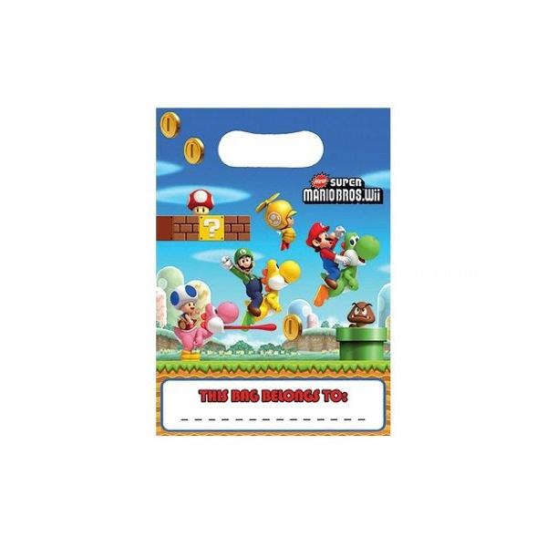 8 sachets friandises Mario Bros 16*23cm189230 Mario Super Mario