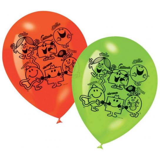 6 ballons Monsieur Madame