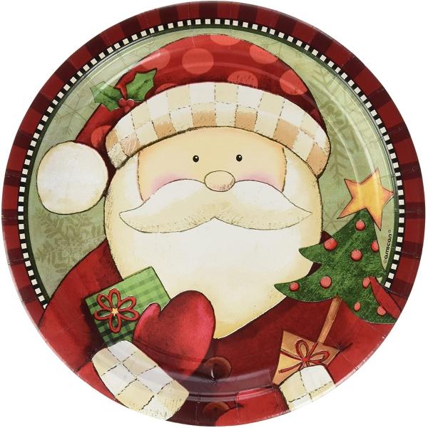 8 assiettes Noel 22.9 cm carton