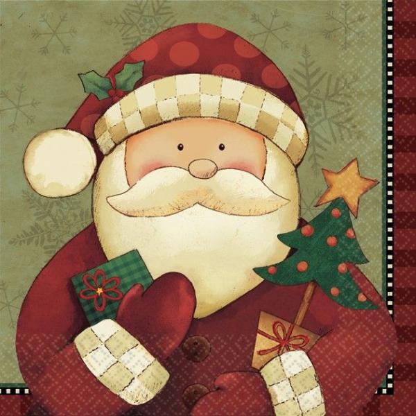 16 serviettes Noel 25*25