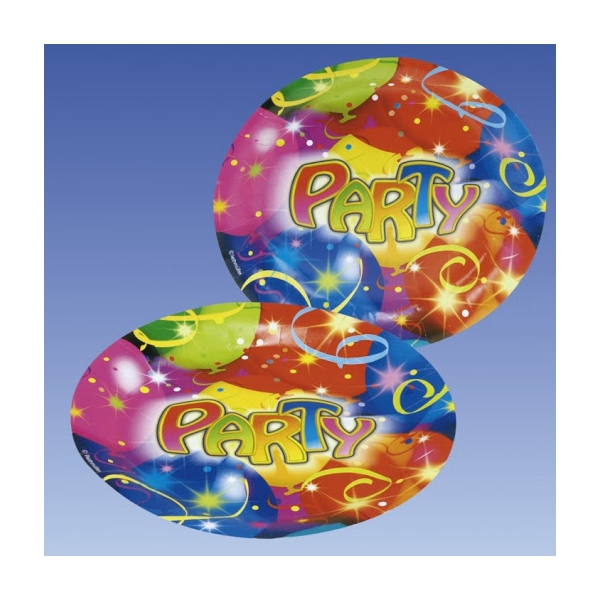 8 assiettes Party ballons 23 cm