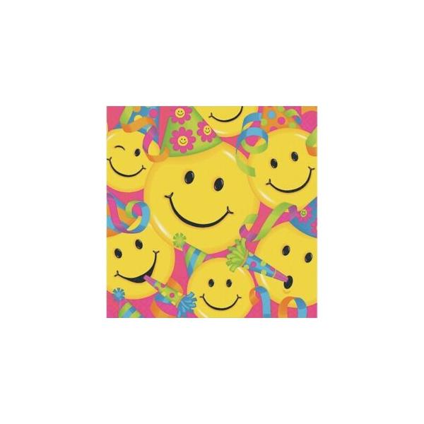 16 serviettes smiles 33*33cm