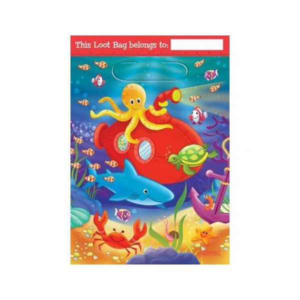 8 sachets fête deep sea fun