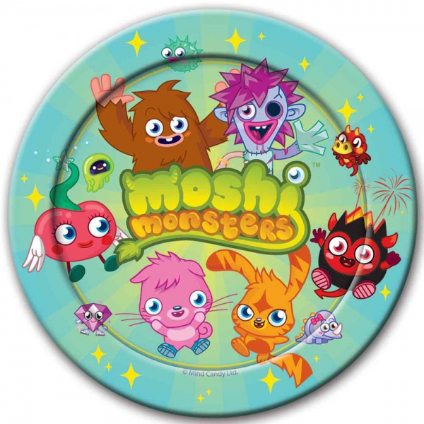 8 assiettes Moshi Monsters 23cm195446 Moshi Monsters