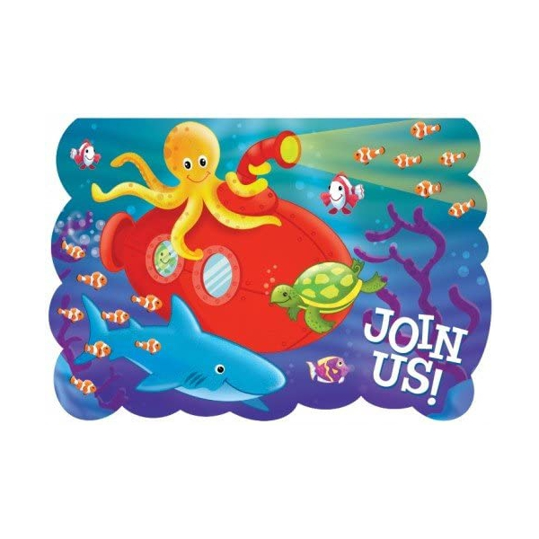 8 invitations deep sea fun