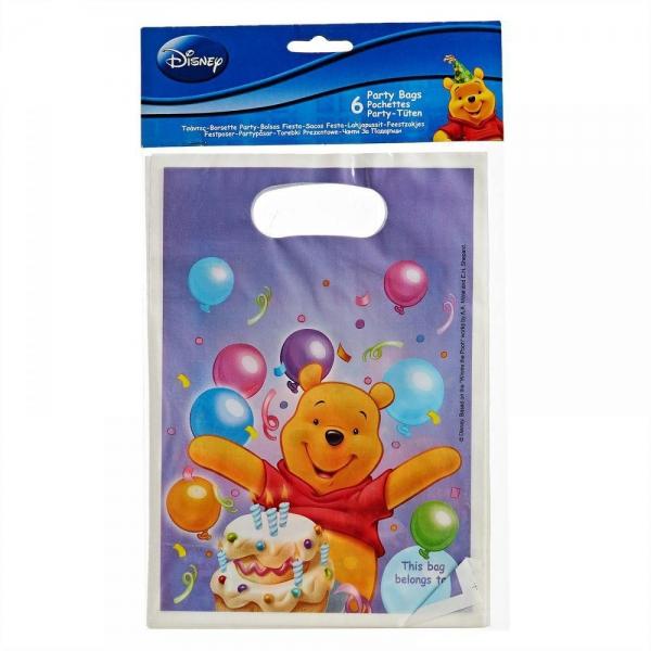 6 sachets Winnie pour confiserie ou petits jouets
