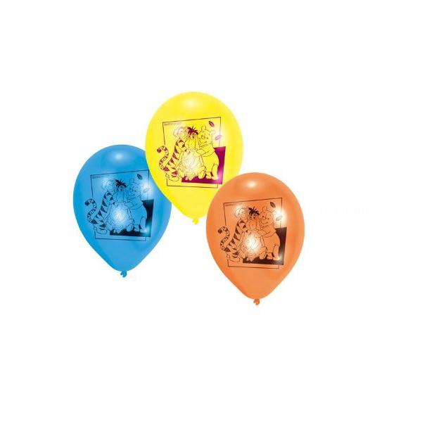 6 ballons Winnie l'ourson et ses amis