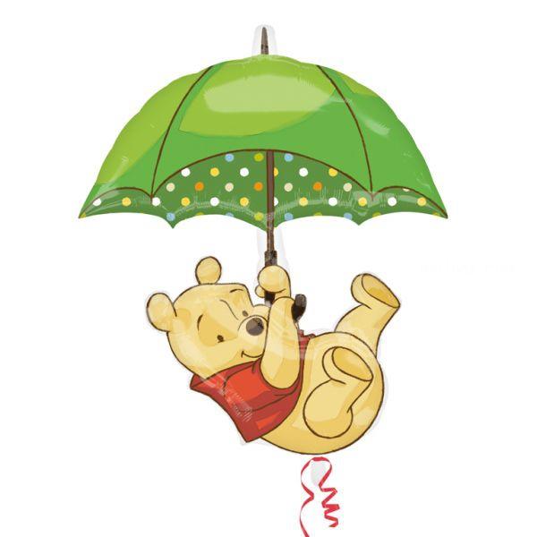winnie ombrelle ballon mylar 76*89cm
