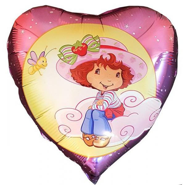 charlotte aux fraises coeur nuage 45 cm non gonflé