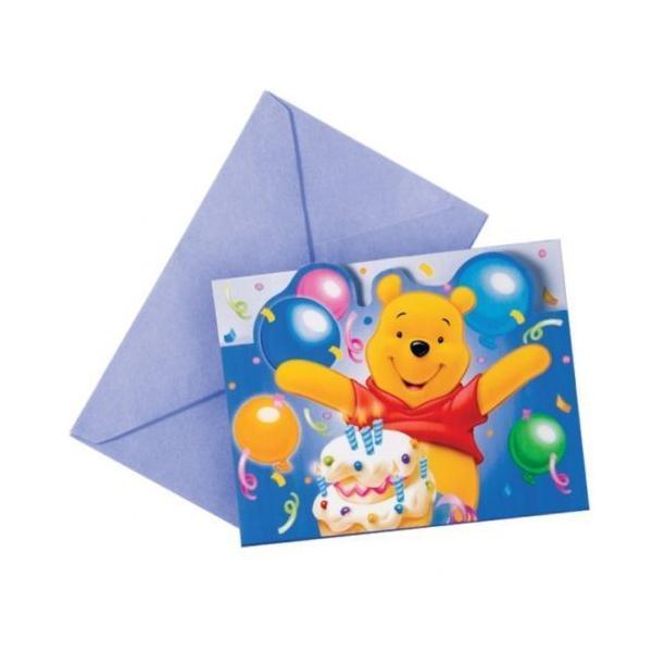 6 invitations Winnie