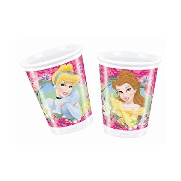 8 gobelets Princesses Disney plastique 20 cl