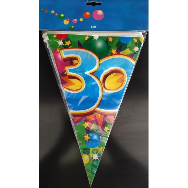 1 Guirlande fanions plastique 30 ans