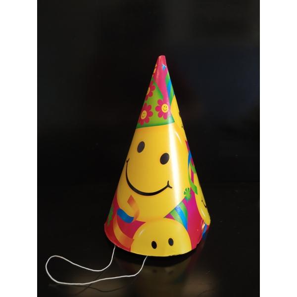 8 chapeaux fêtes Smiles 17.7 CM