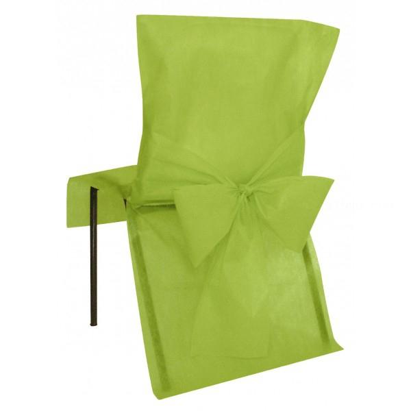 10 housses de chaise avec noeud anis