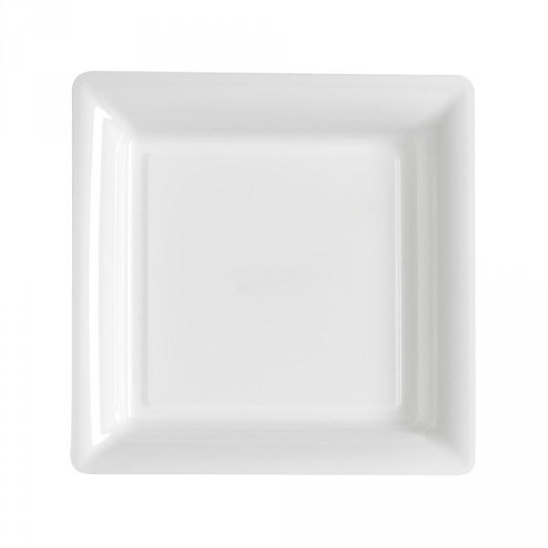 12 assiettes carré blanche 23.5cm*23.5cm