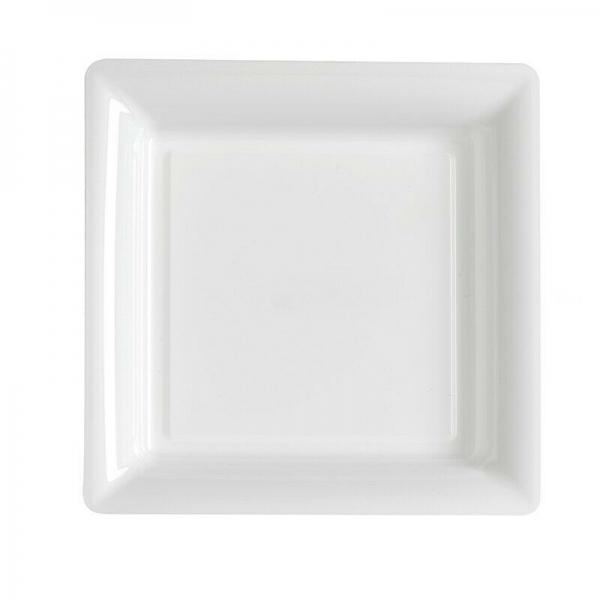 12 assiettes carré blanche 29*29cm