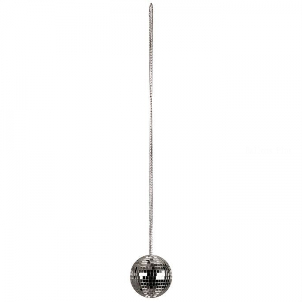1 pendentif boule à facettes disco 4 cm
