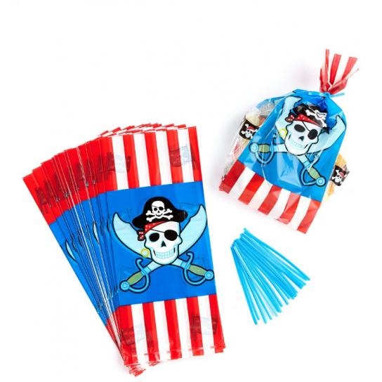 8 sachets pour confiserie ou petits jouets pirate