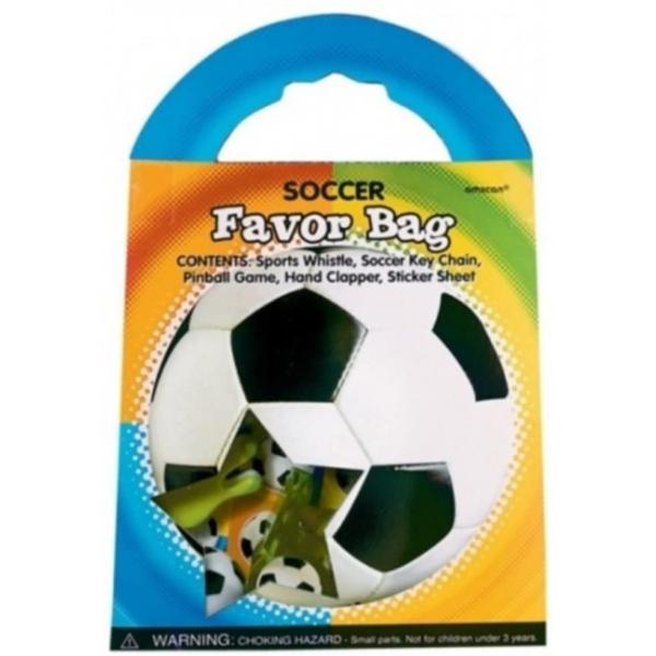 boite avec 5 petits jouets foot