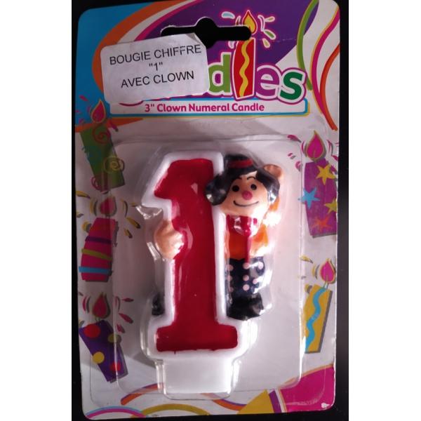 bougie anniversaire clown 1