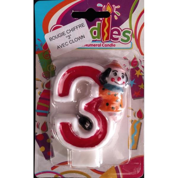 bougie anniversaire clown 3