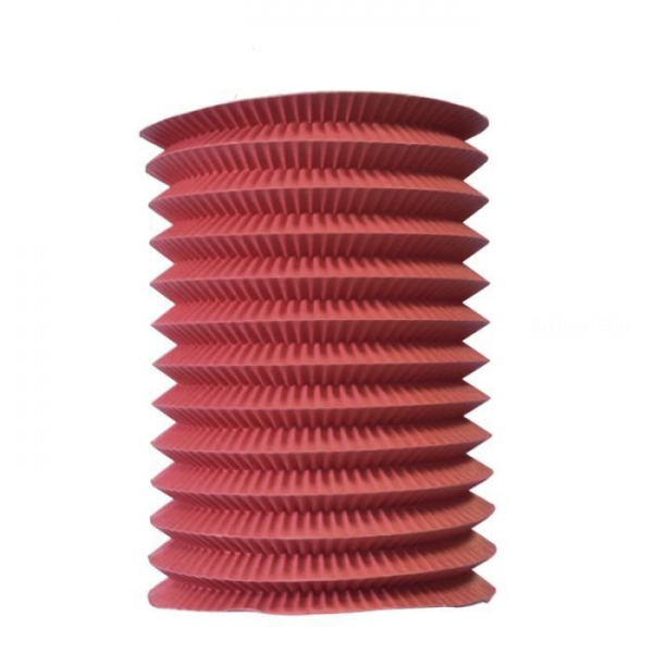 1 lampion cylindrique rouge 16 cm