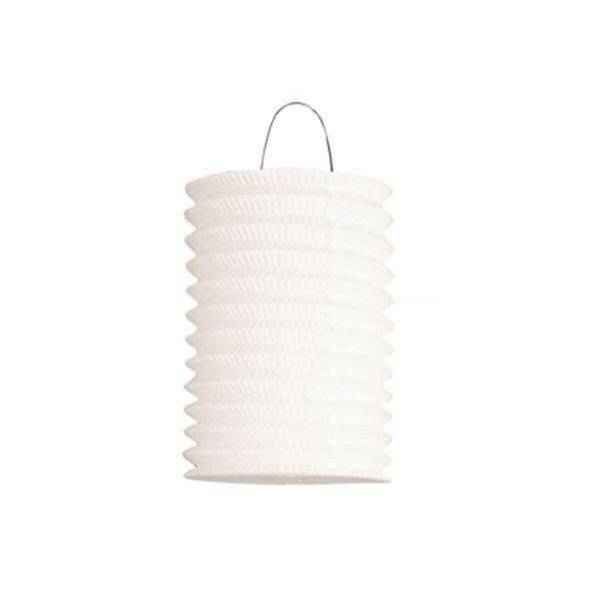 1 lampion cylindrique blanc 13cm