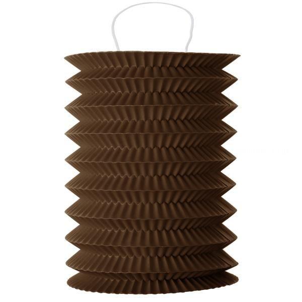 1 lampion cylindrique chocolat 13cm