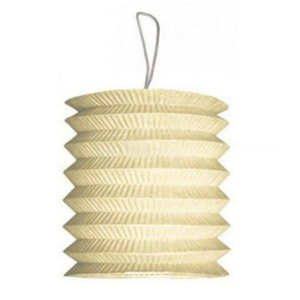 1 lampion cylindrique ivoire 13cm